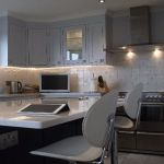 Shaker style kitchen with silestone worktops